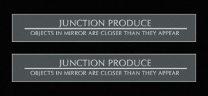 Junction Produce Door Mirror Sticker Set