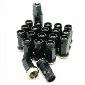Muteki SR45R Wheel Nut Set - P12x1.5 Black (20 Pieces)