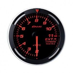 Defi Racer 52mm Gauge - Exhaust Temperature (Red)