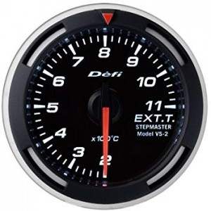 Defi Racer 52mm Gauge - Exhaust Temperature (White)