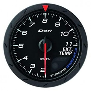 Defi Advance CR 60mm Gauge - Exhaust Temperature (Black)