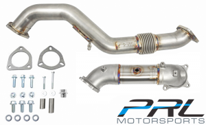 PRL Motorsports Down Pipe/Front Pipe Combo - Honda Civic FK8 Type R (Catless)
