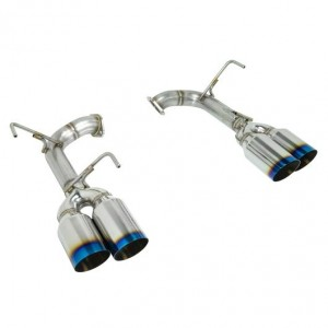 Remark 4 Inch Axleback Muffler Delete Set - Subaru WRX/STI 2015-2020 (Single Wall Burnt Tip)
