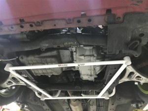 Ultra Racing 4 Point Front Lower Bar - Honda Integra DC5 (Type S and Type R)