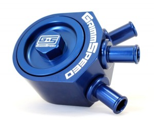 GrimmSpeed Air Oil Separator - Subaru WRX 2002-2007 / STI 2004+ (Blue)
