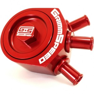 GrimmSpeed Air Oil Separator - Subaru WRX 2002-2007 / STI 2004+ (Red)