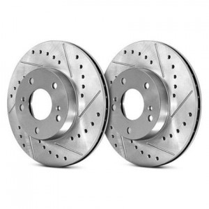 Stoptech Sport Slotted/Drilled Discs - Honda Civic 2016-2019 1.5T (Rear Pair)