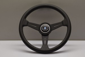 Nardi Classic Steering Wheel - 340mm Black Leather/Grey Stitch