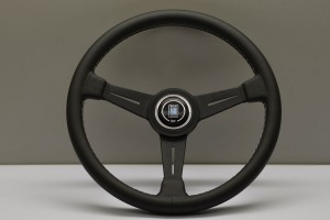 Nardi Classic Steering Wheel - 360mm Black Leather/Grey Stitch