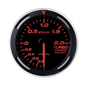 Defi Racer 52mm Gauge - Boost (Red)