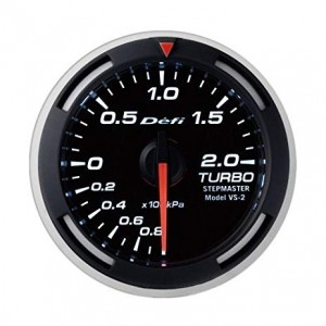 Defi Racer 52mm Gauge - Boost (White)