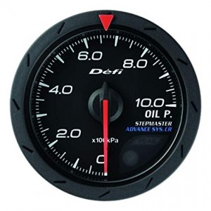 Defi Advance CR 52mm Gauge - Oil Pressure (Black)