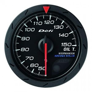 Defi Advance CR 52mm Gauge - Oil Temperature (Black)