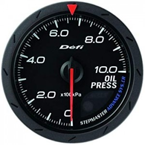 Defi Advance CR 60mm Gauge - Oil Pressure (Black)