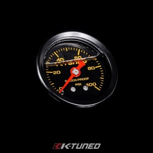 K-Tuned Fuel Pressure Gauge - 0-100 PSI