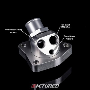 K-Tuned Universal Swivel Neck Thermostat - Honda K-Series Motors