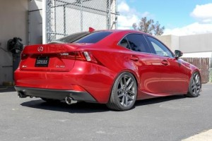Remark Axleback Muffler Delete Set - Lexus IS 2014-2016 (Single Wall Burnt Tips)