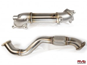 RV6 Performance Catless Down Pipe/Front Pipe Combo - Honda Civic FK8 Type R